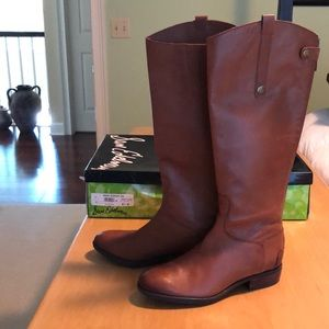 NWOT Sam Edelman Penny boots. Whiskey color.